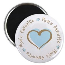 "Mom's Favorite Boy Heart 2.25"" Magnet (10 pack)"
