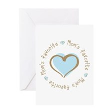 Mom's Favorite Boy Heart Greeting Card