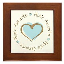 Mom's Favorite Boy Heart Framed Tile