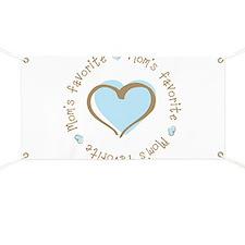 Mom's Favorite Boy Heart Banner