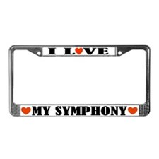 I Love My Symphony License Plate Frame