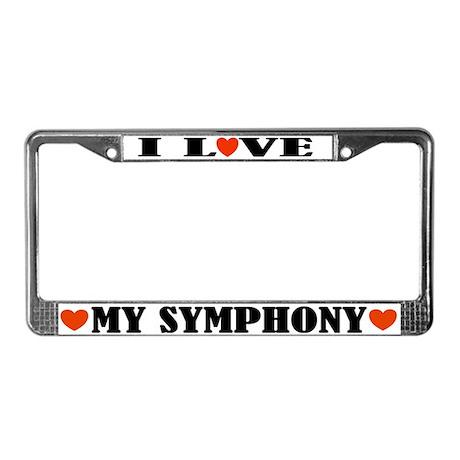 I Love My Symphony License Plate Frame