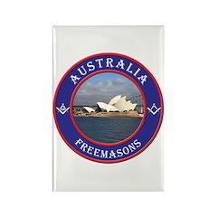 Australian Masons Rectangle Magnet (10 pack)