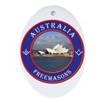 Australian Masons Oval Ornament