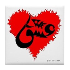 Eshgh and Love in a heart Tile Coaster