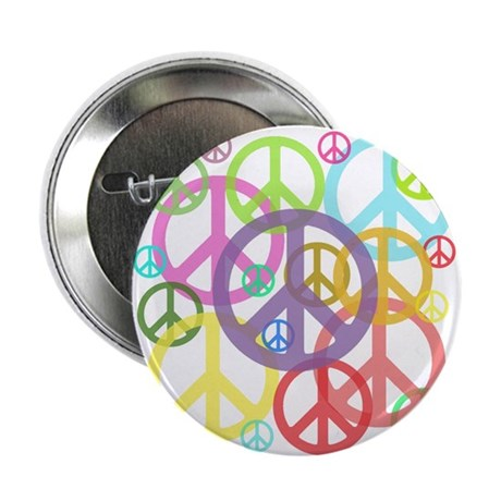 """Peace sign 2.25"""" Button (10 pack)"""