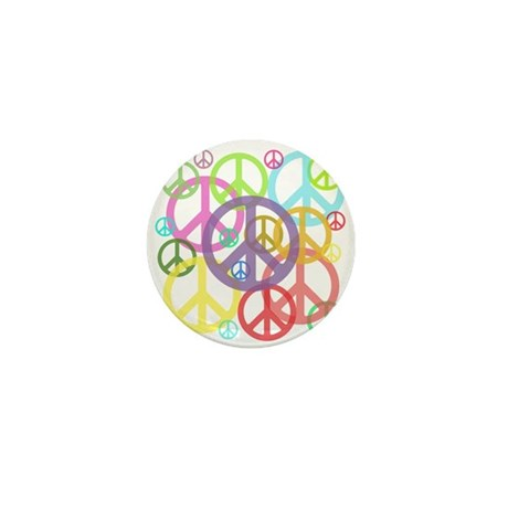 Peace sign Mini Button (100 pack)