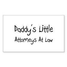Daddy's Little Attorneys At Law Decal