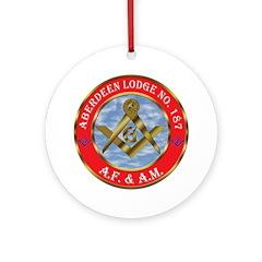 Aberdeen Lodge Ornament (Round)