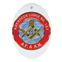 Aberdeen Lodge Oval Ornament