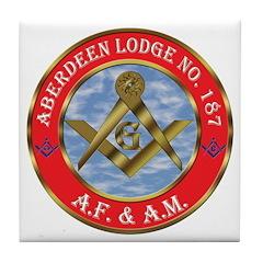 Aberdeen Lodge Tile Coaster