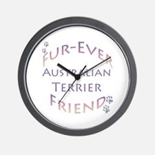 Aussie Terrier Furever Wall Clock