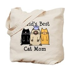 World's Greatest Cat Mom Tote Bag