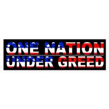 One Nation Under Greed Flag