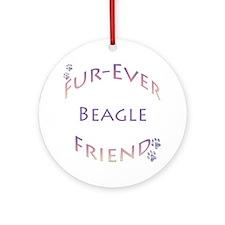 Beagle Furever Ornament (Round)
