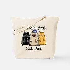 World's Best Cat Dad Tote Bag