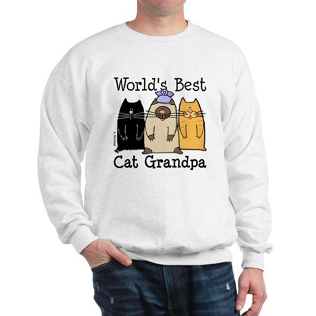 World's Best Cat Grandpa Sweatshirt