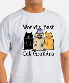 World's Best Cat Grandpa T-Shirt