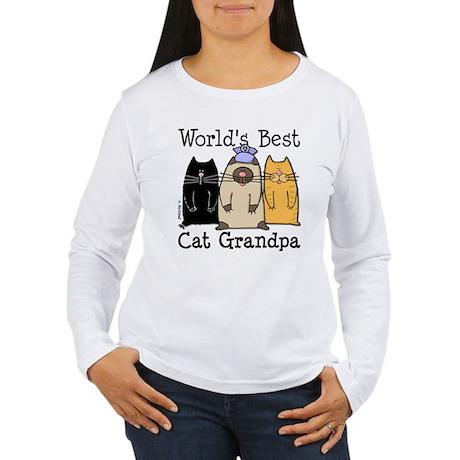World's Best Cat Grandpa Women's Long Sleeve T-Shi
