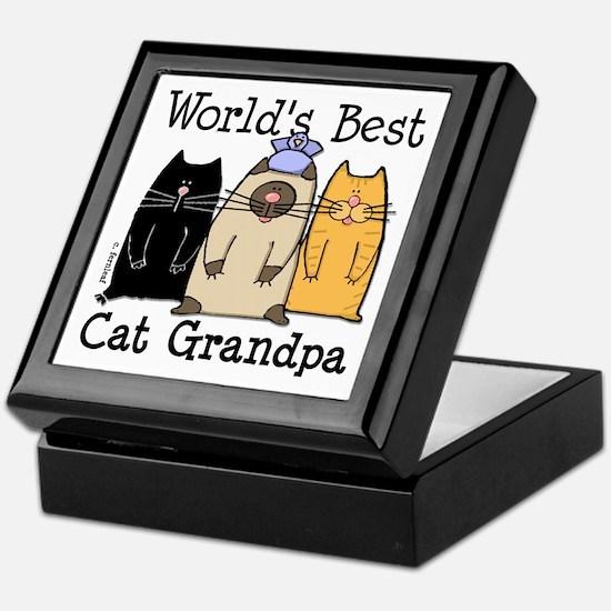 World's Best Cat Grandpa Keepsake Box
