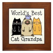 World's Best Cat Grandpa Framed Tile