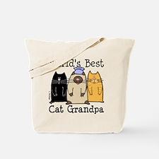 World's Best Cat Grandpa Tote Bag