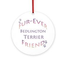 Bedlington Furever Ornament (Round)