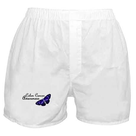 Butterfly Awareness 3 (Colon Cancer) Boxer Shorts