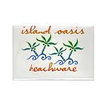 Island Oasis Rectangle Magnet