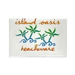 Island Oasis Rectangle Magnet (10 pack)