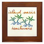 Island Oasis Framed Tile
