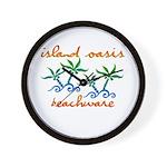 Island Oasis Wall Clock