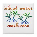 Island Oasis Tile Coaster