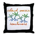 Island Oasis Throw Pillow