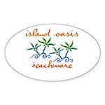Island Oasis Oval Sticker