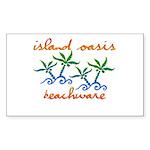 Island Oasis Rectangle Sticker