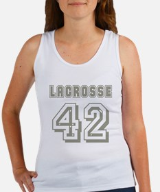 Lacrosse Player 42 Women's Tank Top