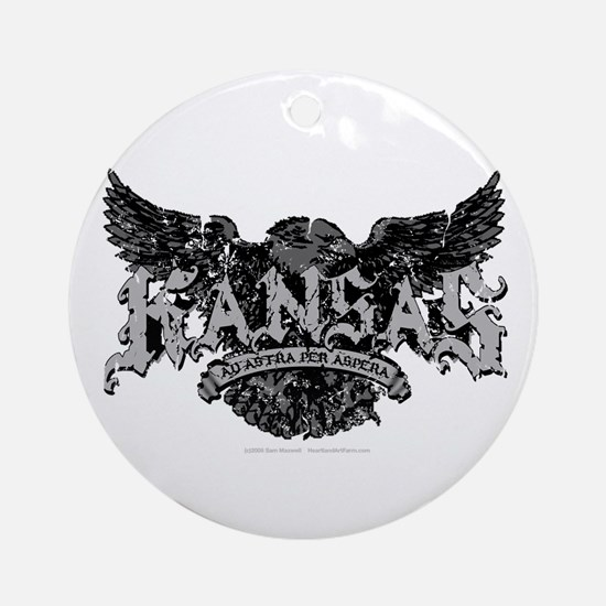 Kansas - Eagle Crest Ornament (Round)
