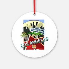 Rodeo Drive LA Ornament (Round)