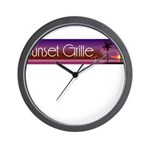 Sunset Grille, Tahiti Wall Clock