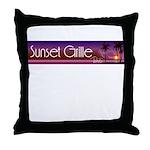 Sunset Grille, Tahiti Throw Pillow