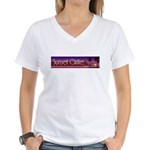 Sunset Grille, Tahiti Women's V-Neck T-Shirt
