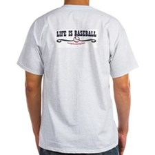 ife Throws You A Fastball Ash Grey T-Shirt