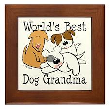 World's Best Dog Gramma Framed Tile