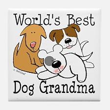 World's Best Dog Gramma Tile Coaster