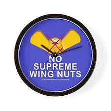 No Sup wing nuts Wall Clock