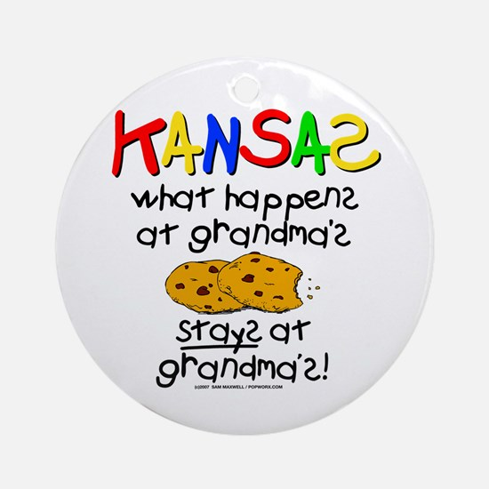 What Happens At Grandma's... Ornament (Round)