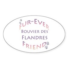 Bouvier Furever Oval Decal