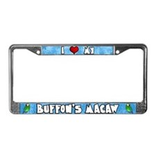 Love Buffon's Macaw License Plate Frame Cartoon