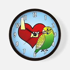 I Love My Green Budgie Clock (Cartoon)